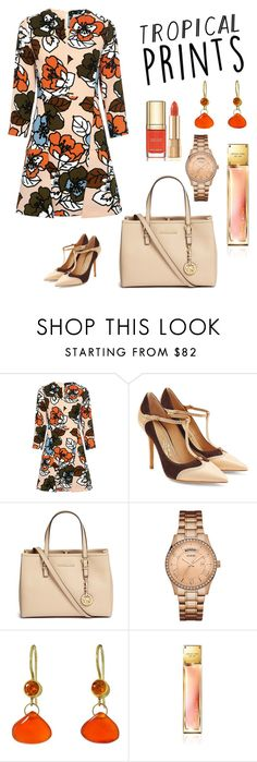 """""""summer dress """" by jasive-asseff-jamous ❤ liked on Polyvore featuring Paul & Joe Sister, Salvatore Ferragamo, Michael Kors, Dolce&Gabbana, GUESS and Mallary Marks"""