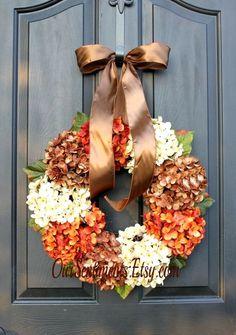 Wreath Summer Wreath Wreaths for fall by OurSentiments on Etsy Wreath Crafts, Diy Wreath, Door Wreaths, Decor Crafts, Seasonal Decor, Fall Decor, Moss Letters, Autumn Wreaths, Wreath Fall