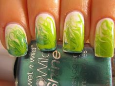 Like the marbled nails but not the color.