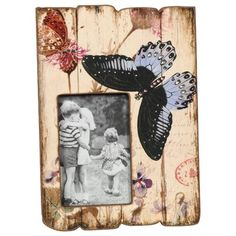 $27  Wilco Butterfly Jeweled Tabletop Easel Picture Frame