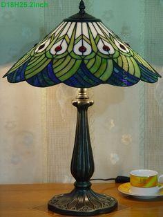 Peacock Tiffany Lamp 18S28-21GT76