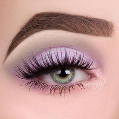 Licht lila Augen Make-up - List of the most beautiful makeup Makeup Eye Looks, Purple Eye Makeup, Cute Makeup, Pretty Makeup, Pastel Makeup, Eye Makeup For Prom, Purple Makeup Looks, Pastel Nail Art, Orange Makeup