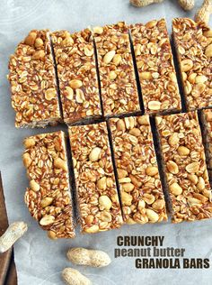 Crunchy Peanut Butter Granola Bars.   Get social with us on Insta // @smtofficial x