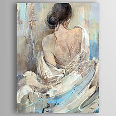 Naked Hand-Painted Modern Oil Painting On Canvas Wall Art Picture For Home Decoration Ready To Hang - Malerei Modern Oil Painting, Oil Painting On Canvas, Figure Painting, Painting Art, Easy Paintings, Your Paintings, Living Room Paintings, Modern Paintings, Beautiful Paintings