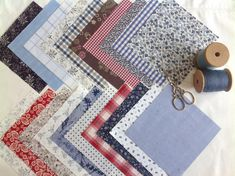 """Shirt squares, 20 x 5"""" squares for scrappy quilts!"""