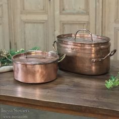19th Century Copper Roasting Pot | www.inessa.com Site Map, Copper Pots, Antique Copper, Decoration, Utensils, 19th Century, Kitchens, The Incredibles, Canning