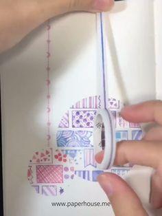 Bullet Journal Washi Tape, Bullet Journal Diy, Bullet Journal Ideas Pages, Bullet Journal Inspiration, Washi Tape Uses, Washi Tape Crafts, Paper Crafts, Washi Tapes, Masking Tape Art
