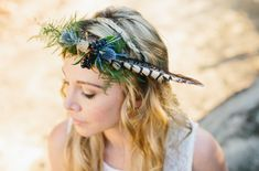 crown DIY feather and flowers - Google Search
