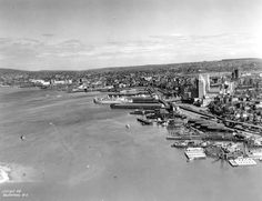 Aerial view of the piers on the waterfront of Vancouver, 1931 (Photo by Royal Canadian Air Force via Vancouver Archives)
