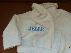 naam op babybadjasje