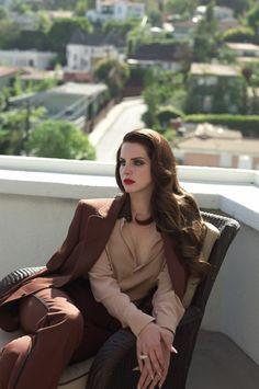Lana Del Rey para a 'L'Uomo Vogue.
