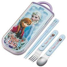 Disney Frozen Chopsticks, Spoon, Fork Set From Japan for sale online Kids Chopsticks, Disney Kitchen, Japan News, Business Goals, Flatware Set, Kids House, Disney Frozen, Bento, Fork