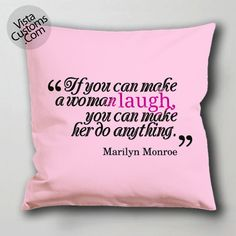 If you can make a quotes Marilyn Monroe pillow case, cushion cover ( 1 or 2 Side Print With Size 16, 18, 20, 26, 30, 36 inch )