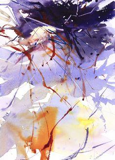 Winter Undergrowth by Adrian Homersham Watercolor Sketchbook, Watercolor Paintings Abstract, Watercolor Artists, Watercolor Landscape, Watercolor And Ink, Abstract Landscape, Winter Painting, Sculpture, Creations