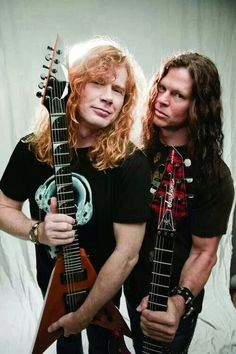 Dave Mustaine and Chris Broderick