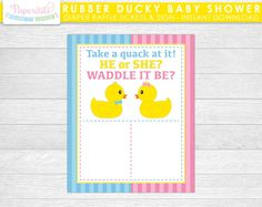 Waddle It Be Rubber Ducky Gender Reveal Hershey Kiss Stickers