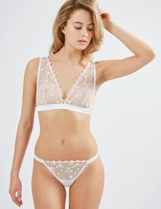 af6875661c064 Congratulate yourself- you ve just found one of the coolest bras of the  season. Semi-sheer cups are decorated with a dream-like constellation of  stars that ...