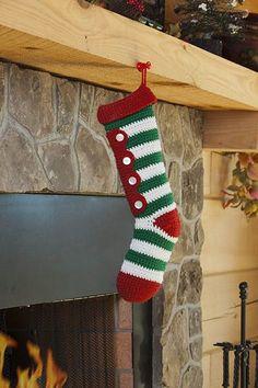 Free Universal Yarn Pattern : Crochet Candy Stripes Stocking