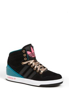 $53.56 on @Keaton Row website, arranged with full of fashion... click to see it in action. A basketball-inspired high-top sneaker effortlessly takes signature adidas style from the courts to the streets.  Removable insole. Leather and synthetic upper/textile lining/synthetic sole. By adidas