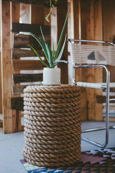 DIY rope side table