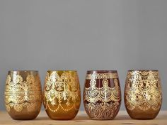 Rustic Boho Table Decor Apothecary Jar Amber Glass by LITdecor