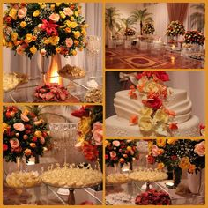 Mesa de doces bodas de ouro .