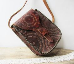 10OFFLarge vintage brown leather womens by ANTIQUEcountry on Etsy, $49.50