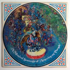 Walt Disney - A Musical Souvenir of America on Parade, Picture Disc LP Vinyl Record Album, Disneyland - WD-3, 1975, Original Pressing