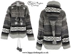 Nepalese Style Wool Pixie Hooded Hippy Festival Jacket, about $100 + $45 shipping