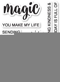 Words Stamp Set Cling Fairy Greetings Poppystamps Stamps CL452 birthday