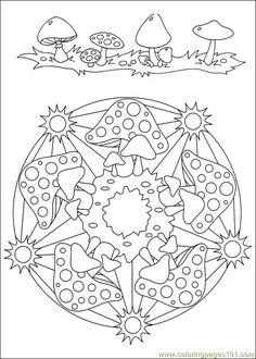 food coloring mandalas | Coloring Pages Mandalas 034 (Other > Painting) - free printable ...