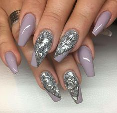 Mauve coffin nails