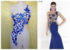 New pure handmade rhinestones applique royalblue sew on crystals patches trim for dress DIY accessories African Fashion Dresses, Fashion Outfits, Women's Fashion, Robe Diy, Wedding Dress Accessories, Diy Accessories, Rodeo Queen, Haute Couture Dresses, Queen Dress