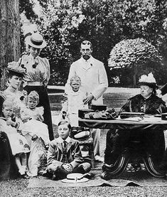 Queen Victoria and family at Osborne House, late 19th century. Queen Elizabeth Wedding, Chester Cathedral, Fine Art Prints, Canvas Prints, Still Image, Wonderful Images, Photo Puzzle, Online Printing, Photographic Prints