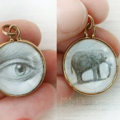 ANTIQUE Lover's Eye and Baby Elephant 9k Gold Plated   Etsy Lovers Eyes, Artist Pencils, Gold Outfit, Eye Jewelry, Grey And Gold, Baby Elephant, Wearable Art, Antique Jewelry, How To Draw Hands
