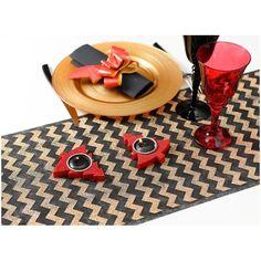 Nouveauté #bonplan #wedding chemin de table chevron noir or #decoration #mariage #bapteme http://www.baiskadreams.com/3554-chemin-de-table-chevron-noir-or-paillete-organdi-5-m.html…