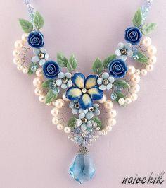 Beautiful flower jewelry by Alina Bondarenko   Beads Magic