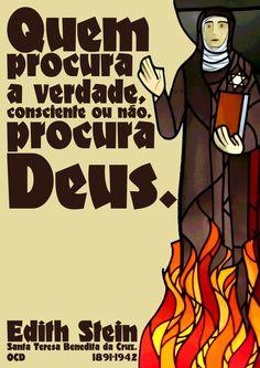 Quem procura a verdade, consciente ou não, procura Deus. Edith Stein (Santa Teresa Benedita da Cruz, OCD), 1891-1942 -pt.svg