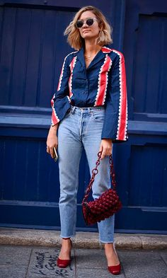 Paris Fashion Week Street Style Spring See All the Best Looks Look Street Style, Street Style 2017, Street Style Trends, Spring Street Style, Spring Style, Spring Summer, Fashion Week, Look Fashion, Daily Fashion