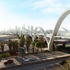 Michael Maltzan's Ribbon of Light Bridge to break ground in Los Angeles
