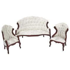 3-Pc. Mahogany Living Room Set