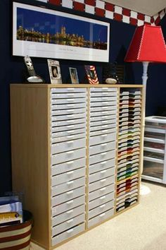 Paper Storage by Best Scrapbook Storage--some day, you will be mine.