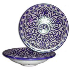 Moroccan Pottery / Ceramic - Farsi Platter