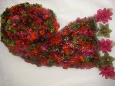 Hand knitted colorful elegant scarf by Arzus on Etsy, $15.90