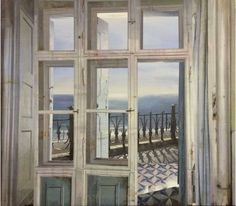 Painting (!!!) by Matteo Massagrande. Finestra sul mare 2016. Oil & Mixed Media on Board.