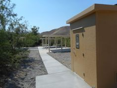 <p>A destination trailhead under construction at Tecopa's China Ranch Date Farm will including three concrete shade structures with picnic tables and a pit toilet restroom. The project should be completed this fall. Robin Flinchum/Special to the Pahrump Valley Times </p>