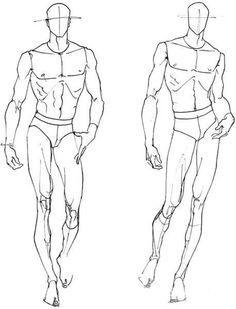 服装设计人体结构人物线稿手稿基础自学绘画临摹素材