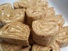 Weight watcher recipes,Pumpkin spice cream cheese roll ups using Flatout breads, by drizzle me skinny.
