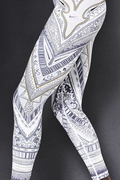 Nike Running Tights Arctic Monarch Special Edition -#nike #runningtights #prints