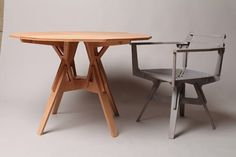http://www.marvelbuilding.com/wooden-furniture-constructed-puzzlelike-pieces-stack-frame.html --- ESKO TABLE/CHAIR EXAMPLES